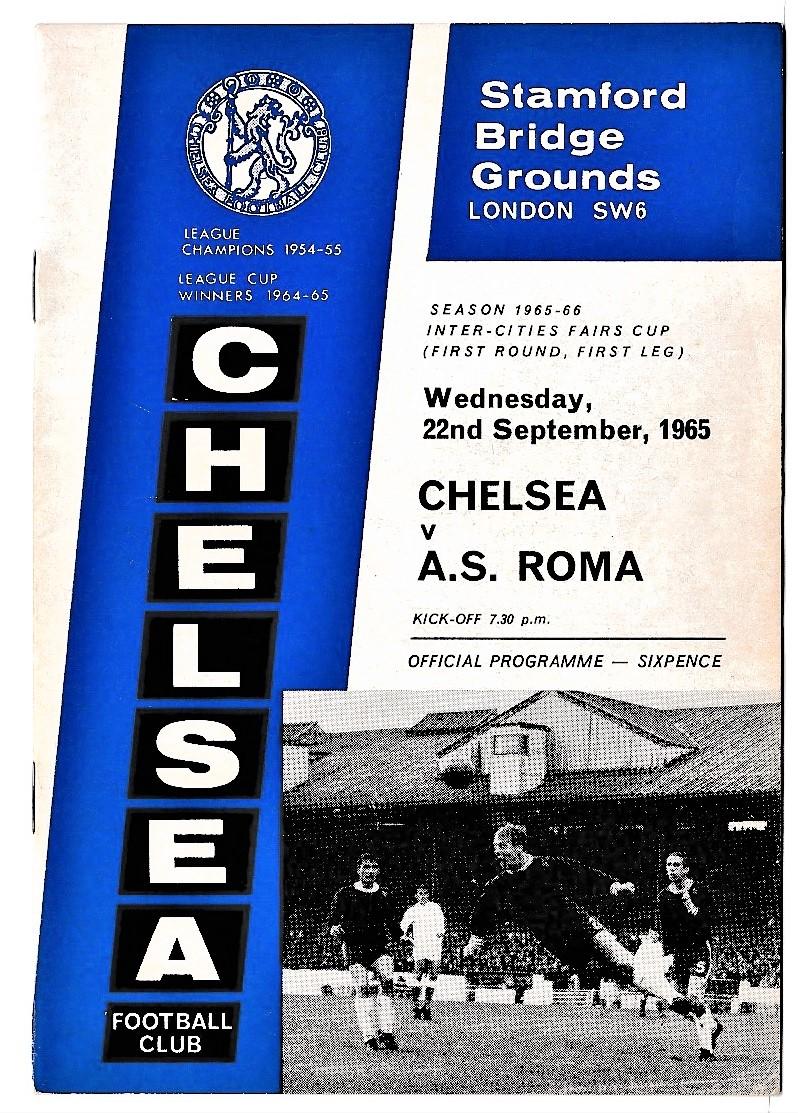 Chelsea v AS Roma 1965 September 22nd Friendly