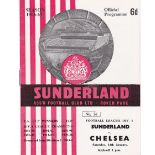 Sunderland v Chelsea 1967 January 14th League team change and score in pen league table scores in
