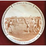 A Royal Doulton 'The History of the Ashes' plate depicting England v Australia at Kennington Oval
