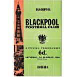 Blackpool v Chelsea 1966 January 1st League