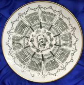 "Sir Donald Bradman AC ""Century of Centuries"" Coalport 9"" plate with all his centuries depicted"