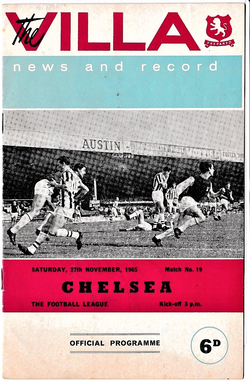 Aston Villa v Chelsea 1965 November 27th League