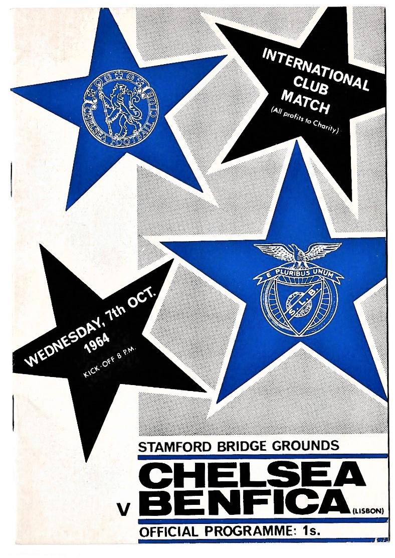 Chelsea v Benfica Lisbon 1964 October 7th Friendly Stamford Bridge