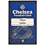 Chelsea v Arsenal 1961 February 25th Football Combination horizontal & vertical creases
