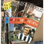 1970s League Football Review Programmes (155) mostly very fine condition. Buyer collects this lot
