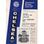 Chelsea v TSV Munchen 1860 Fairs Cup Round Four Second Leg