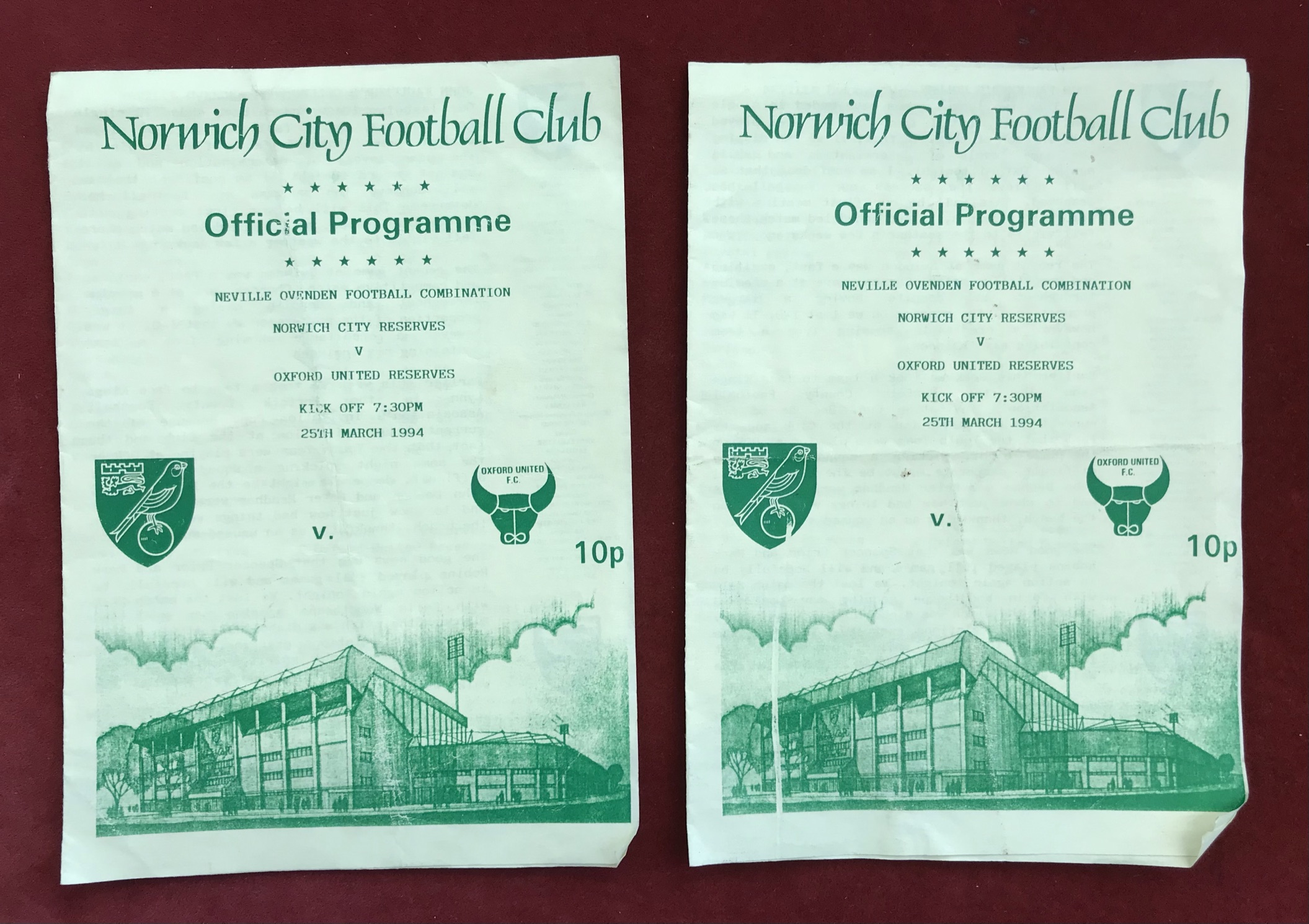 Norwich City Reserves 1971-73 - Chelsea Reserves 9 Dec 1972. Chelsea Reserves v Arsenal Reserves - Image 4 of 4