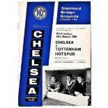 Chelsea v Tottenham Hotspur 1965 March 10th League