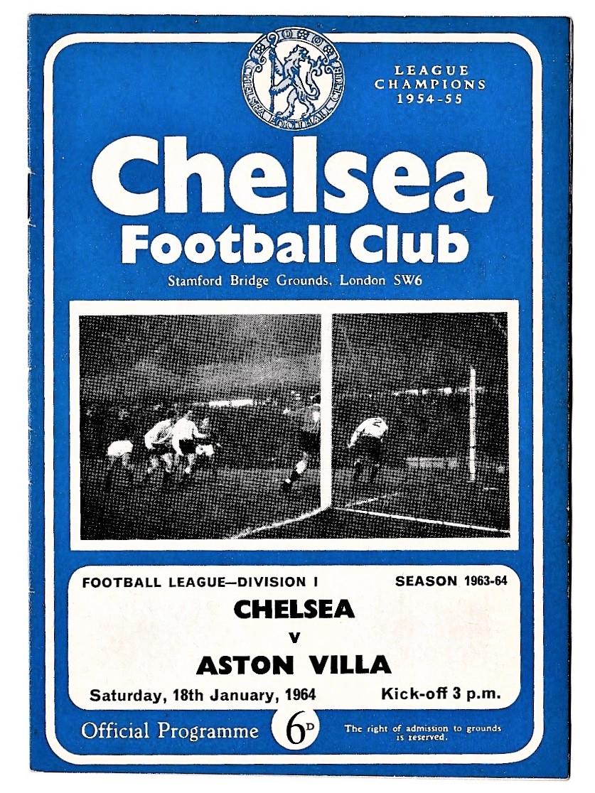Chelsea v Aston Villa 1964 January 18th League Division 1