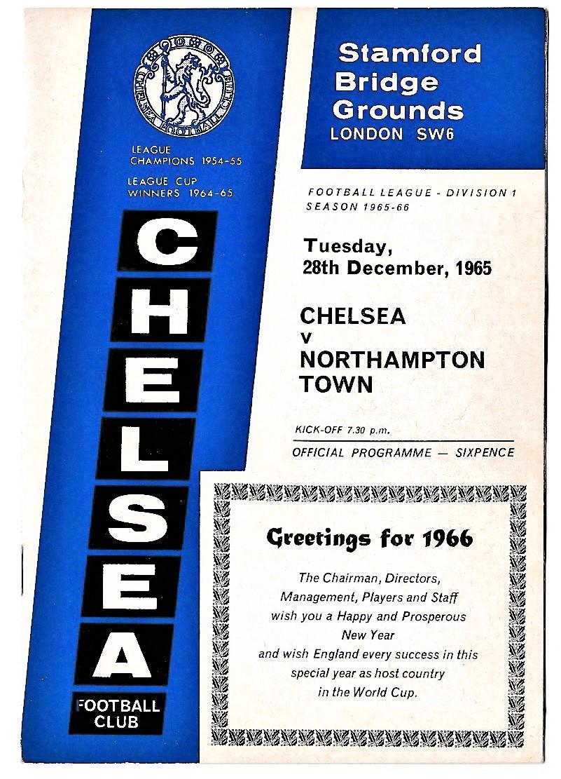 Chelsea v Northampton Town 1965 December 28th League