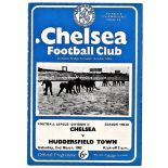 Chelsea v Huddersfield Town 1963 March 2nd League hole punched left