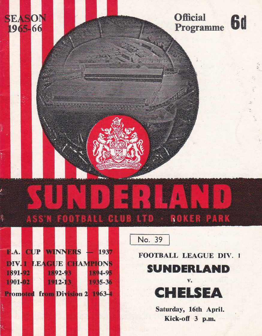 Sunderland v Chelsea 1966 April 16th League