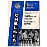 Chelsea v Newcastle United 1965 September 25th League