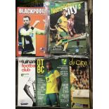 Norwich City Official Programmes. Home and Away 1992-2016. Qty. Buyer collects this lot