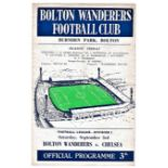 Bolton Wanderers v Chelsea 1960 September 3rd League horizontal & vertical creases