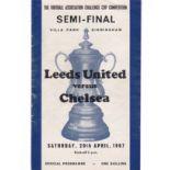 Leeds United v Chelsea 1967 April 29th FA cup Semi-Final played at Villa Park