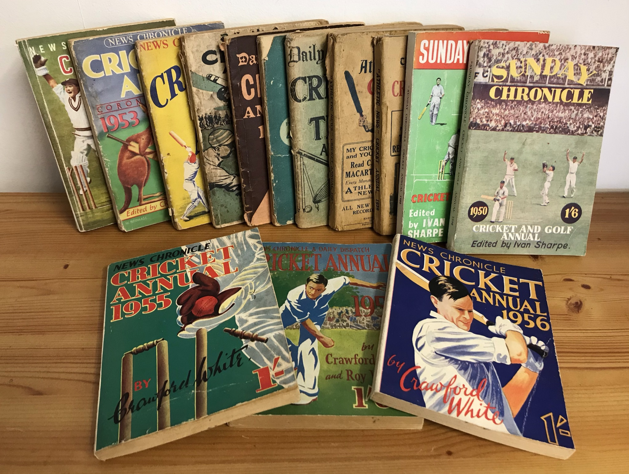 Cricket Annuals including New Chronicle Cricket Annuals 1950s (6), Sunday Chronicle Cricket