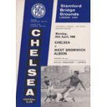 Chelsea v West Bromwich Albion 1966 April 25th League