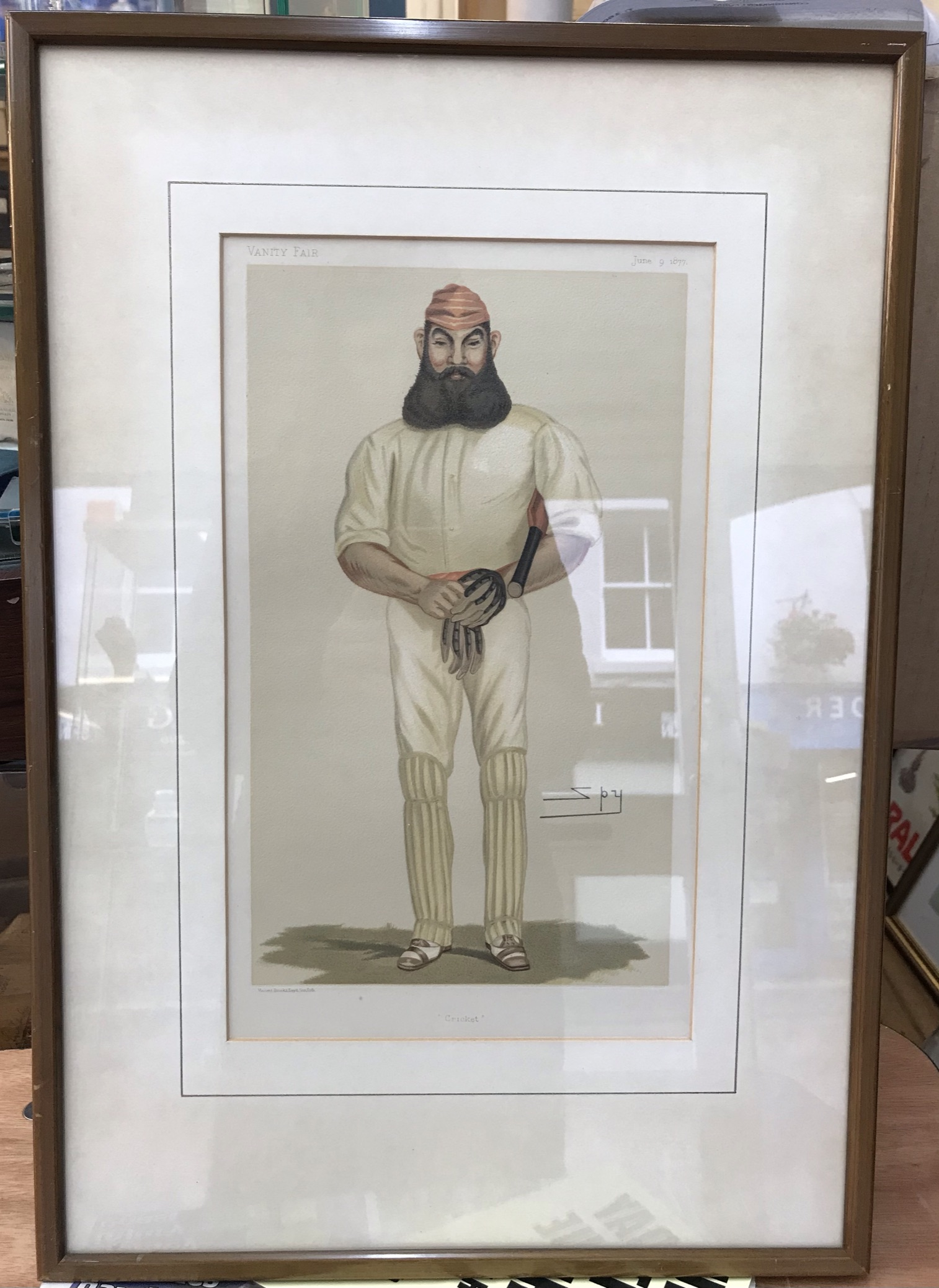 "W G Grace Vanity Fair 'Spy' Cartoon ""Cricket"" nicely framed and glazed. Buyer collects"