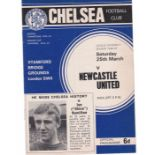 Chelsea v Newcastle United 1967 March 25th League vertical crease coupon removed back page