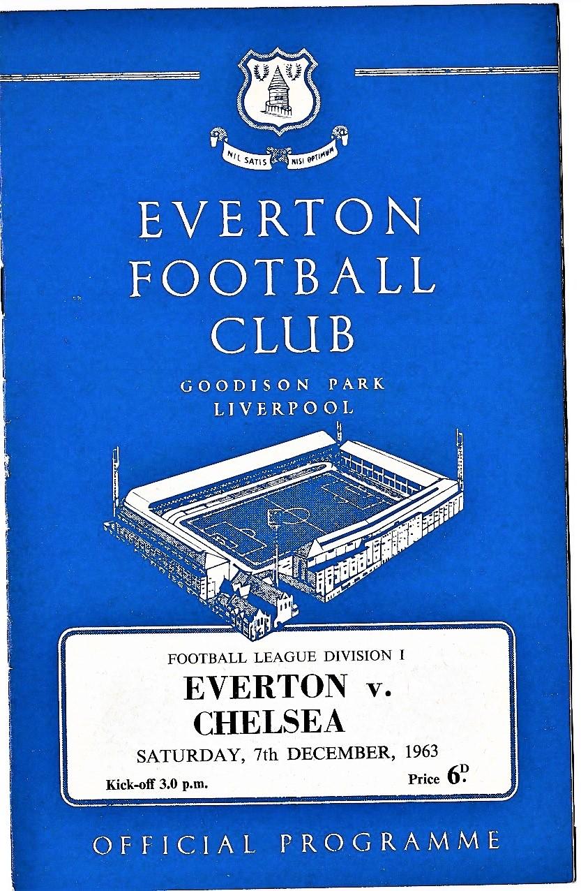 Everton v Chelsea 1963 December 7th League team change in pen