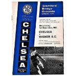 Chelsea v Wiener SC 1965 December 1st Fairs Cup second leg