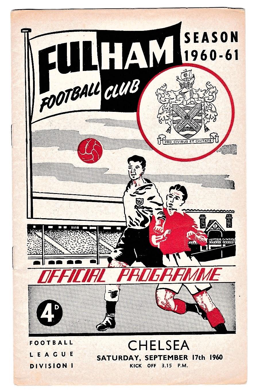 Fulham v Chelsea 1960 September 17th League