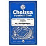 Chelsea v Bolton Wanderers 1959 October 10th League horizontal crease