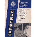 Chelsea v Fulham 1966 February 5th League