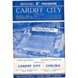 Cardiff City v Chelsea 1961 September 6th League