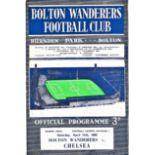 Bolton Wanderers v Chelsea 1964 April 11th League vertical crease