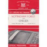 Nottingham Forest v Chelsea 1966 August 30th League