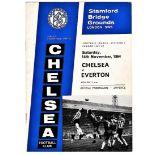 Chelsea v Everton 1964 November 14th League 1 football programme