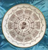 "Sir John Henry Hobbs ""Century of Centuries"" Coalport 9"" plate, ltd edition of 500. Very fine"