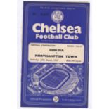 Chelsea v Northampton Town 1957 March 30th Combination split down left side (in two pieces clean