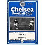 Chelsea v Everton 1964 April 18th League Division 1 football programme