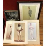 """C S Forester Black and white photograph, Spy Cartons (reproduced) of W. G. Grace and """"An Artful"""
