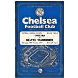 Chelsea v Bolton Wanderers 1961 January 14th League vertical crease