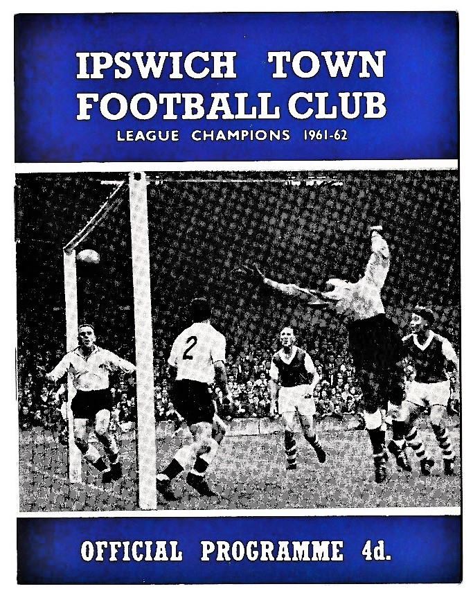 Ipswich Town v Chelsea 1963 October 12th League score and attendance in pen