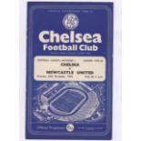 Chelsea v Newcastle United 1959 December 26th Div. 1 vertical crease