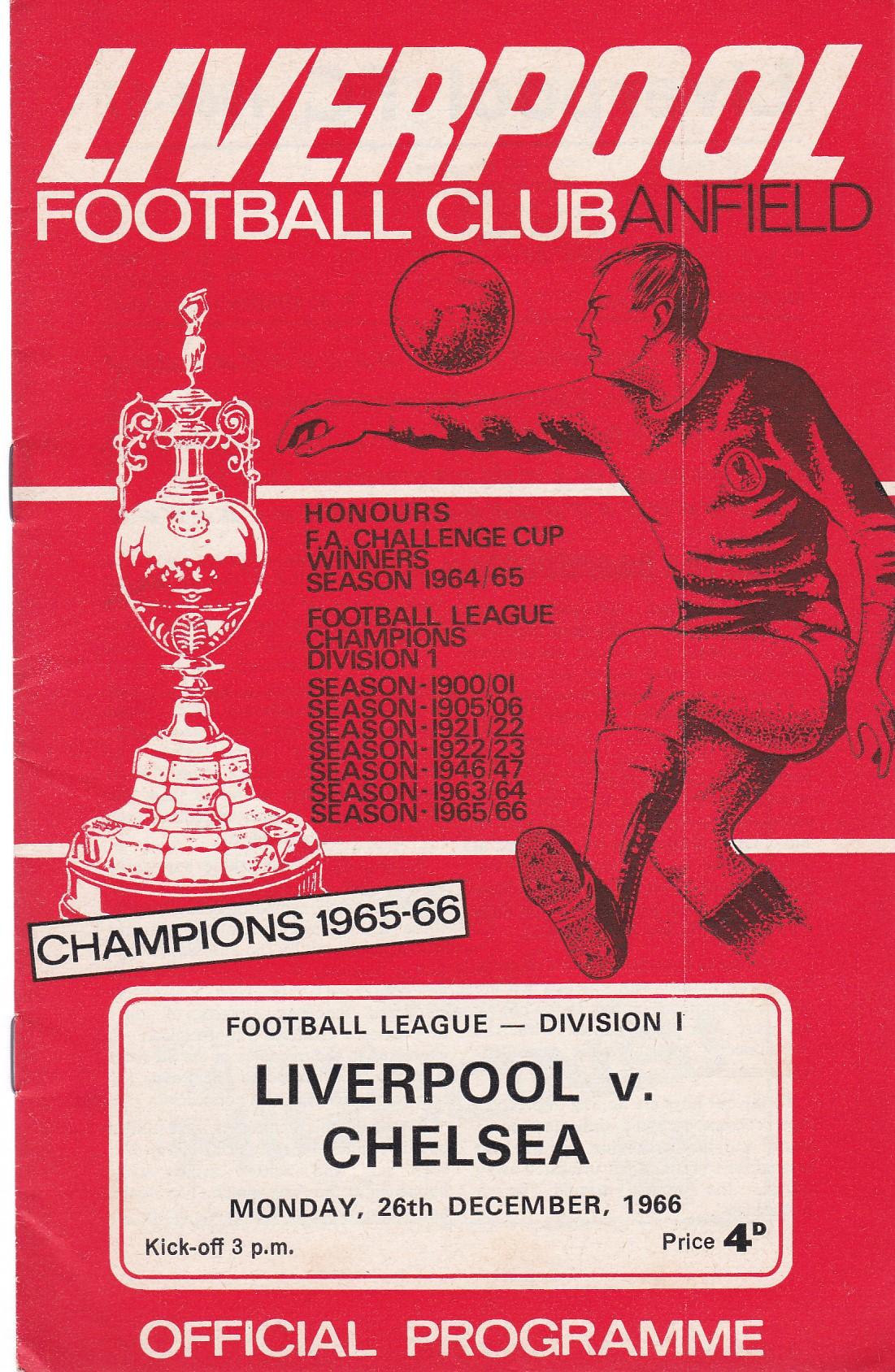 Liverpool v Chelsea 1966 December 26th League