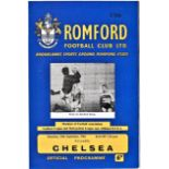 Romford v Chelsea 1964 September 10th Friendly no staple all pages intact