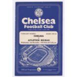Chelsea v Atletico Bilbao 1959 December 2nd Floodlight Friendly