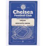 Chelsea v Newcastle United 1955 February 12th Div. 1 vertical crease