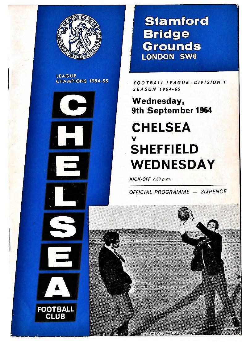 Chelsea v Sheffield Wednesday 1964 September 9th League