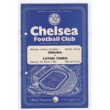 Chelsea v Luton Town 1960 March 5th Div. 1 hole punched left