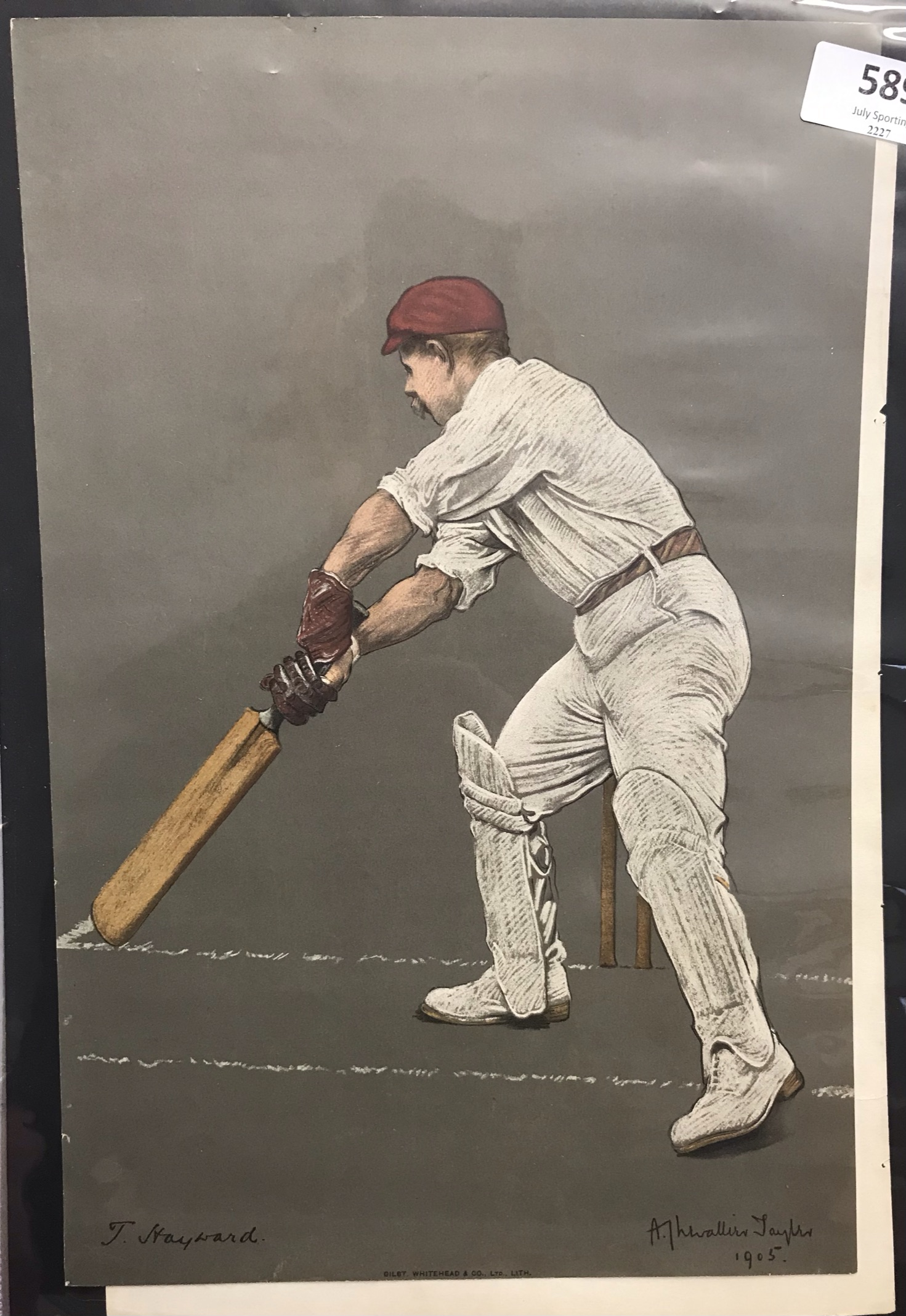 Surrey 1905 T Hayward, Test Match player, 1899 lots of averages, 1904 3000+ runs and 11 centuries,