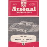 Arsenal v Chelsea 1958 December 6th Combination horizontal & vertical creases score team change in