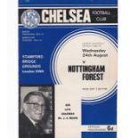 Chelsea v Nottingham Forest 1966 August 24th League