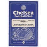 Chelsea v West Bromwich Albion 1960 February 24th Div. 1 team change score in pen